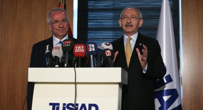 CHP GENEL BAŞKANI KEMAL KILIÇDAROĞLU, TÜSİAD'I ZİYARET ETTİ