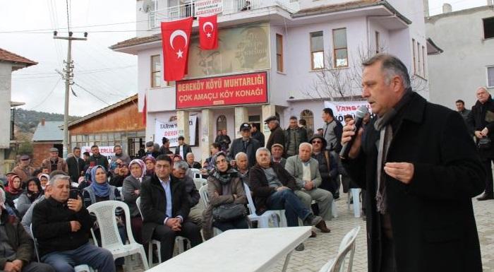 BAYAR'DAN KÖMÜR MADENİNE DİRENEN DEREKÖY'E DESTEK