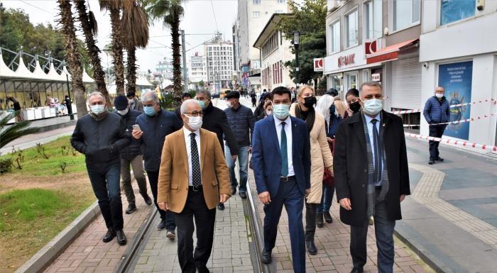 CHP HEYETİ ÇARŞI ESNAFINI ZİYARET ETTİ