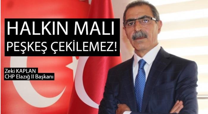 HALKIN MALI PEŞKEŞ ÇEKİLEMEZ!