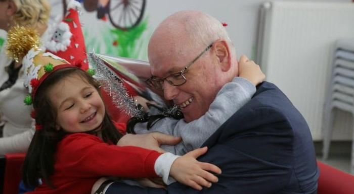 Çocuklar yeni yılı Başkan Kurt ile kutladı
