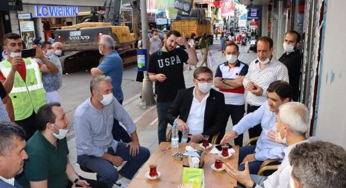 CHP Kocaeli, Alemdar esnafının yanında