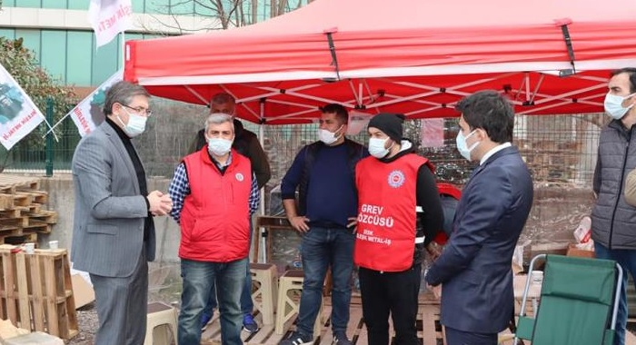Cem Bialetti işçilerine CHP'den destek
