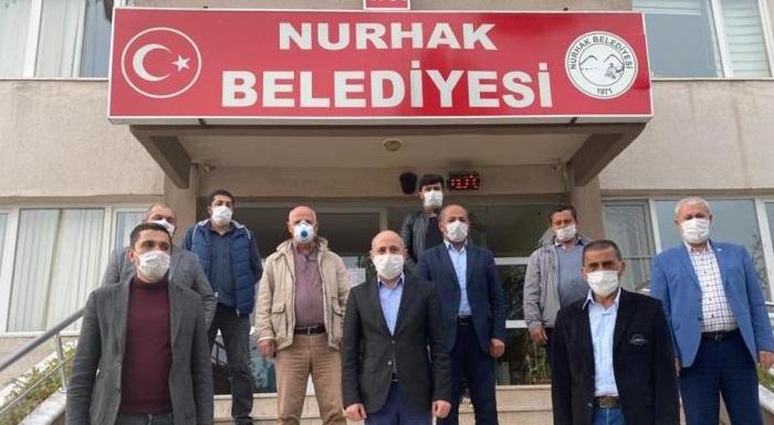 Milletvekilimiz Sayın Ali Öztunç ve İl Başkanımız Sayın Esat Şengül Nurhak Belediye Başkanı İlhami Bozan'ı Ziyaret Etti.