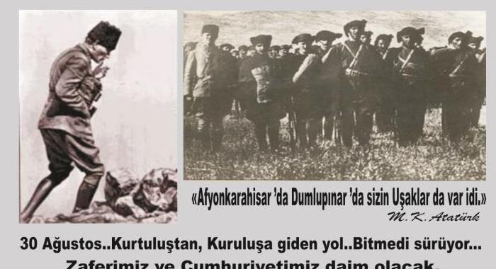 ÖZGÜRLÜK VE BAĞIMSIZLIĞA OLAN AŞKIMIZ BUGÜN DE 30 AĞUSTOS 1922 GÜNÜ KADAR CANLIDIR