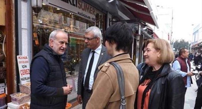 CHP'den Uzun Çarşı Esnafına Ziyaret