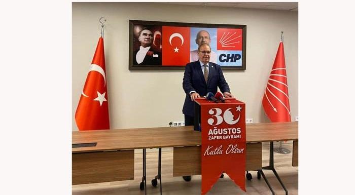 CHP Genel Başkan Yardımcısı ve Parti Sözcüsü, Tekirdağ Milletvekili Faik Öztrak'ın, 30 Ağustos Zafer Bayramı mesajı: