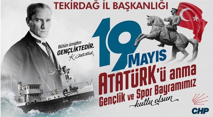 19 MAYIS ATATÜRK'Ü ANMA GENÇLİK VE SPOR BAYRAMI KUTLU OLSUN..