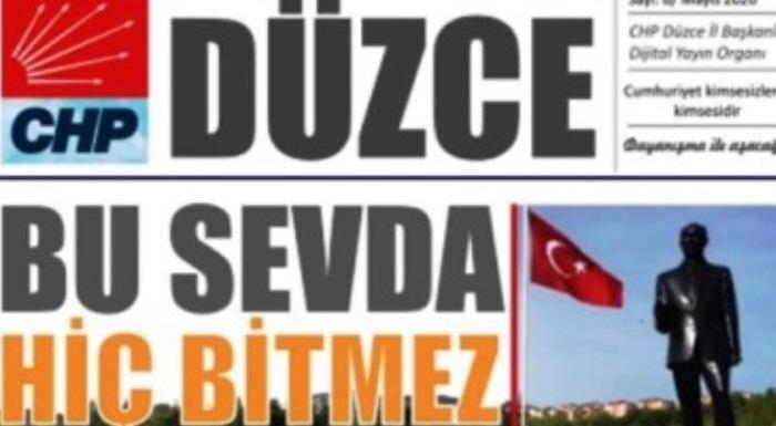 CHP DÜZCE Dijital Bülteni 6.Sayımız Çıktı.