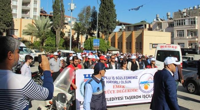 Samandağ'da Taşeron'dan Kadroya Geçenlere Toplu Sözleşme!