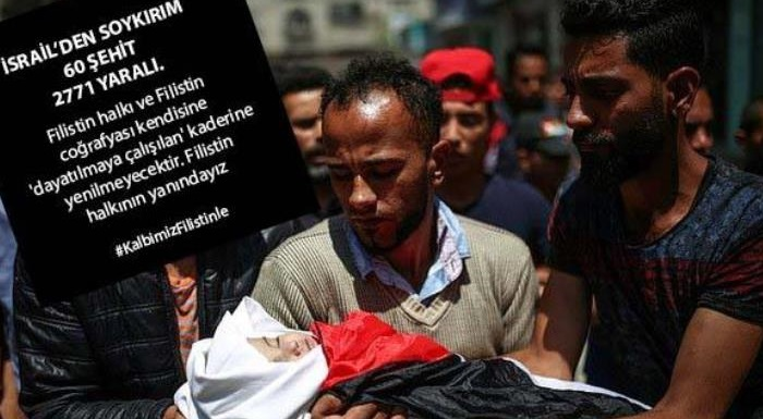 Filistin halkı ve Filistin coğrafyası kendisine 'dayatılmaya çalışılan' kaderine yenilmeyecektir. Filistin halkının yanındayız #KalbimizFilistinle