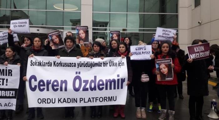 Ceren ve öldürülen tüm kadın kardeşlerimiz için kadın cinayetleri davalarının sonuna kadar takipçisiyiz.