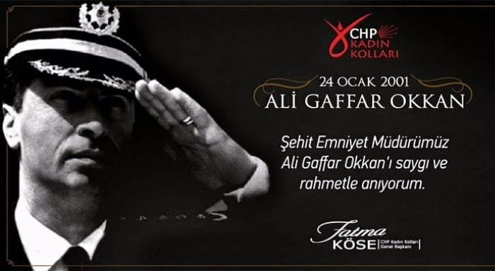 Hain bir saldırıda şehit olan Emniyet Müdürümüz Gaffar Okkan'ı saygı ve rahmetle anıyoruz.