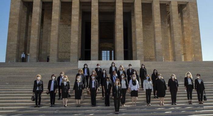 Cumhuriyet Halk Partisi Kadın Kolları Genel Başkanlığı olarak Atamızın huzuruna çıktık.