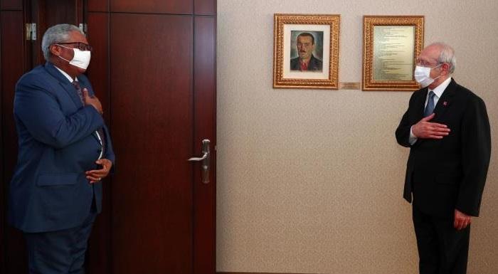 Cumhuriyet Halk Partisi Genel Başkanı Kemal Kılıçdaroğlu, Sudan'ın Türkiye Büyükelçisi Adil İbrahim Mustafa Ahmed'i kabul etti // Sudan Ambassador to Turkey Mr Adil Mustafa Ahmed's visit