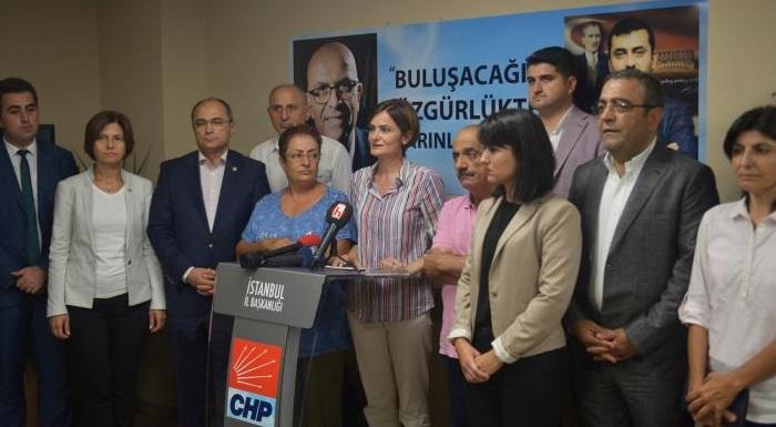 """CHP İSTANBUL'DAN """"ENİS BERBEROĞLU VE EREN ERDEM SERBEST BIRAKILSIN"""" ÇAĞRISI"""