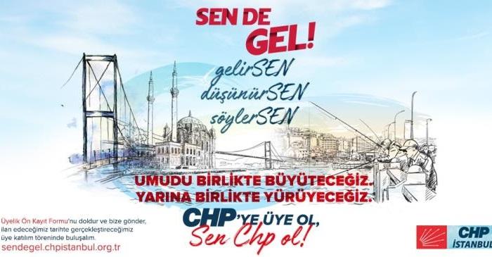 CHP İstanbul'da üyelik kampanyası başlattı