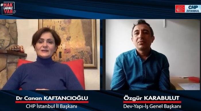 CHP'li Kaftancıoğlu İnşaat İşçilerinin Sorunlarını Dinledi