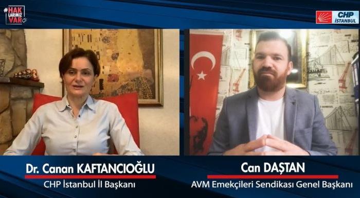 CHP İstanbul İl Başkanı Kaftancıoğlu, AVM Çalışanlarının Sorunlarını Dinledi