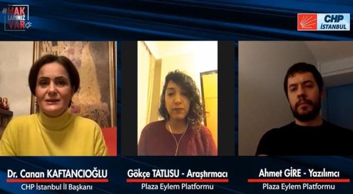 CHP İstanbul İl Başkanı Dr. Canan Kaftancıoğlu, Beyaz Yakalı Çalışanların Sorunlarını Dinledi