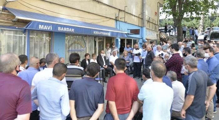 İl Başkanı Kaftancıoğlu Kahvehane Esnafı ile Bir Araya Geldi