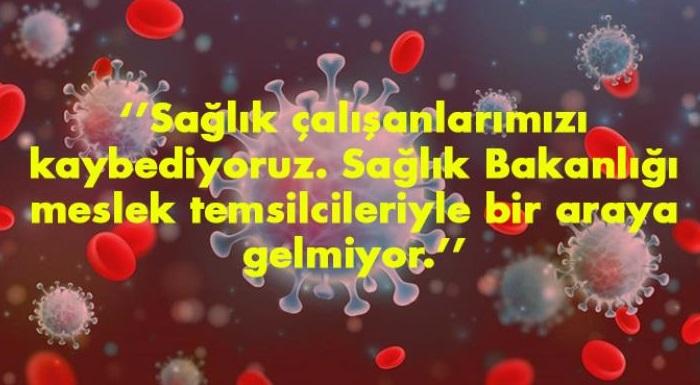 İl Başkanımız Kaftancıoğlu: Sağlık çalışanlarımızı kaybediyoruz. Sağlık Bakanlığı meslek temsilcileriyle bir araya gelmiyor