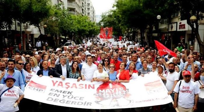 CHP İZMİR'DEN REKOR KATILIM - YÜCEL'DEN iZMİR'E 1 MAYIS TEŞEKKÜRÜ