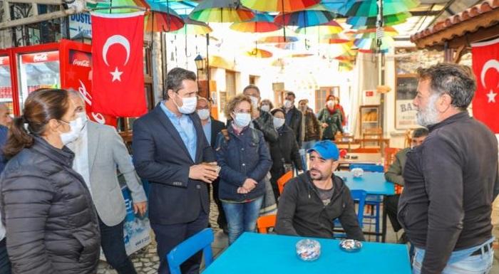 """CHP Heyeti Seferihisar'da İncelemelerde Bulundu - Yücel """"Yaraların Tamamı Sarılıncaya Kadar Yanınızdayız"""""""