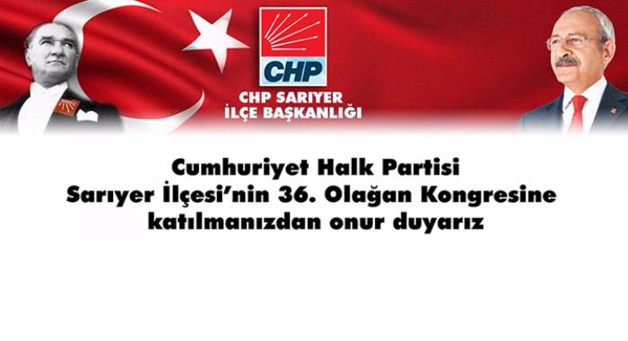 CHP Sarıyer 36. Olağan Kongre Duyurusu