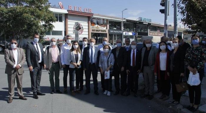 CHP Heyeti Siteler esnafının sorunlarını yerinde tespit etti