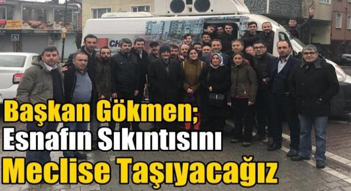 CHP ESENYURT İLÇE  BAŞKANı ALİ GÖKMEN  ESNAF ZİYARETİNDE  BULUNDU