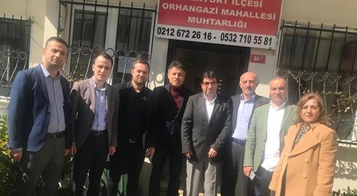 İlçe Yöneticilerimizle Birlikte Orhangazi Mahalle Muhtarlığını Ziyaret Ettik